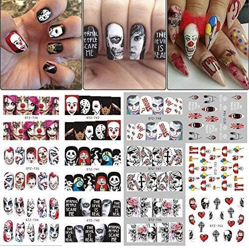 Halloween-Nails-Art-Stickers-Decals-2020-8