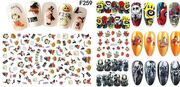 Halloween Nails Art Stickers & Decals 2020