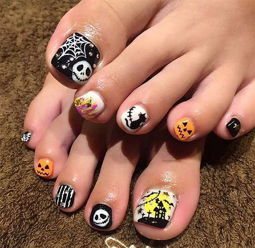 Halloween-Toe-Nail-Art-Designs-2020-2