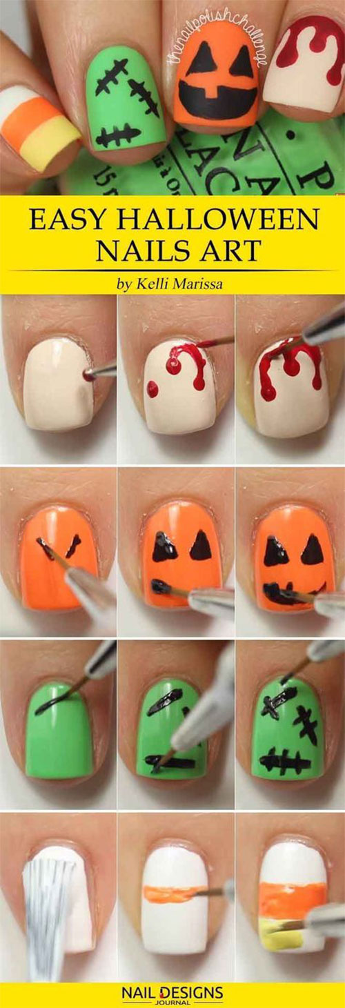 Step-By-Step-Halloween-Nail-Art-Tutorials-For-Beginners-2020-17