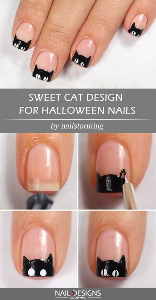 Step-By-Step-Halloween-Nail-Art-Tutorials-For-Beginners-2020-18
