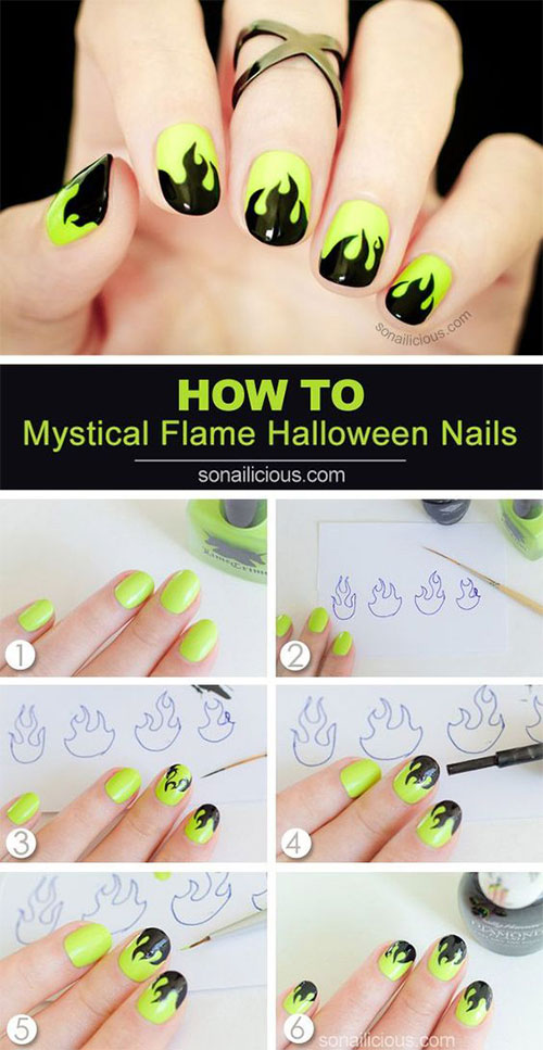 Step-By-Step-Halloween-Nail-Art-Tutorials-For-Beginners-2020-19