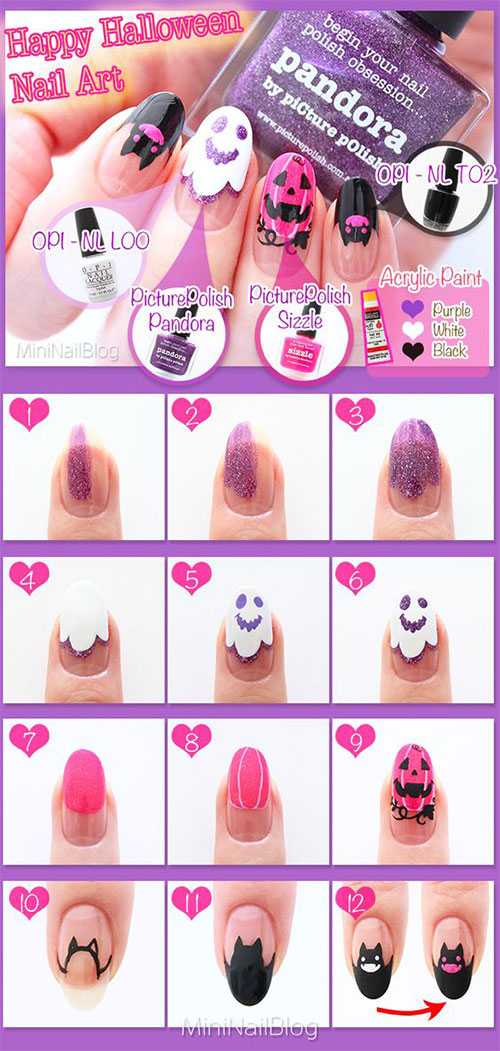 Step-By-Step-Halloween-Nail-Art-Tutorials-For-Beginners-2020-20