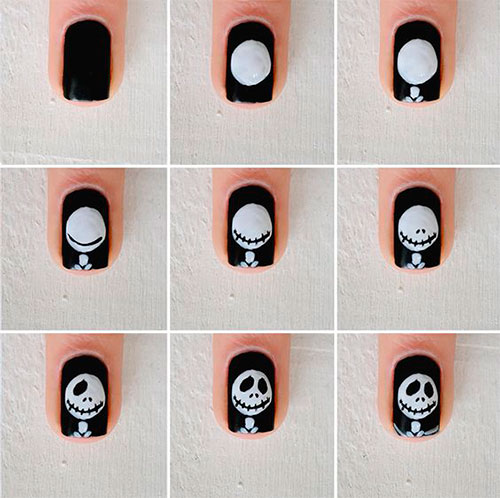 Step-By-Step-Halloween-Nail-Art-Tutorials-For-Beginners-2020-7