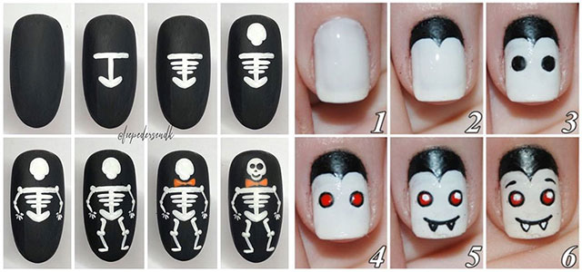 Step-By-Step-Halloween-Nail-Art-Tutorials-For-Beginners-2020-F