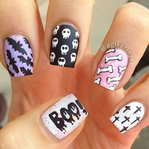 Sugar-Skull-Nail-Art-Designs-2020-Halloween-Nails-1