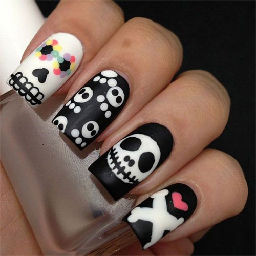Sugar-Skull-Nail-Art-Designs-2020-Halloween-Nails-11