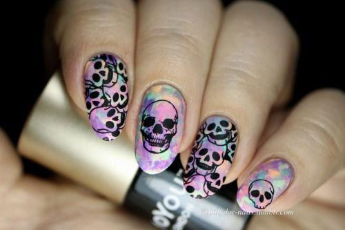 Sugar-Skull-Nail-Art-Designs-2020-Halloween-Nails-12