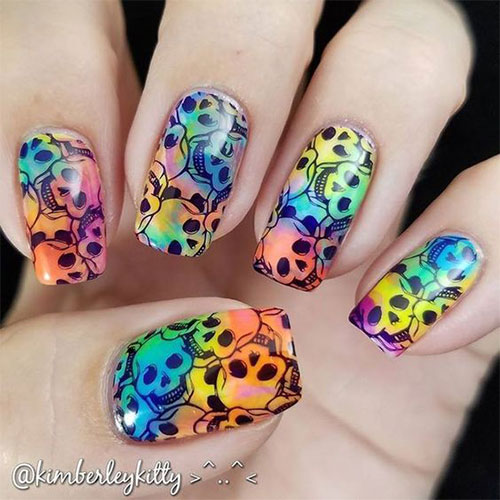 Sugar-Skull-Nail-Art-Designs-2020-Halloween-Nails-3