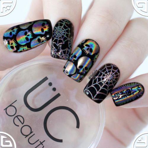 Sugar-Skull-Nail-Art-Designs-2020-Halloween-Nails-5