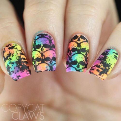 Sugar-Skull-Nail-Art-Designs-2020-Halloween-Nails-8