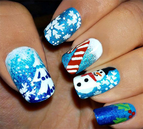Christmas-Snowman-Nail-Art-Ideas-2020-Holiday-Nails-1