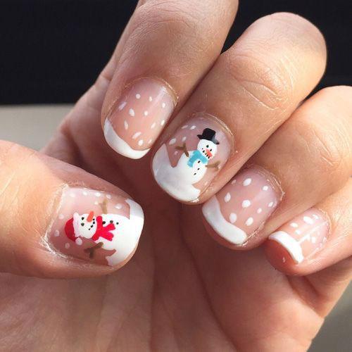 Christmas-Snowman-Nail-Art-Ideas-2020-Holiday-Nails-10