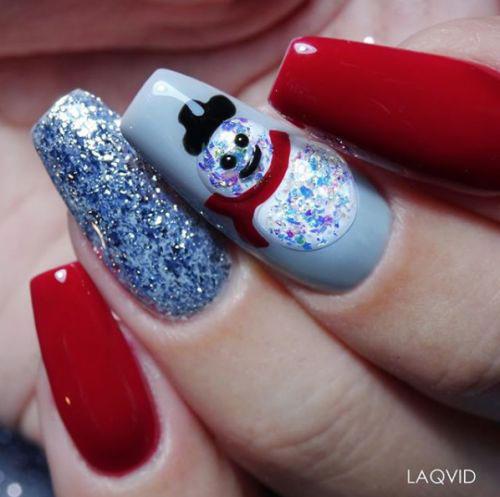 Christmas-Snowman-Nail-Art-Ideas-2020-Holiday-Nails-12