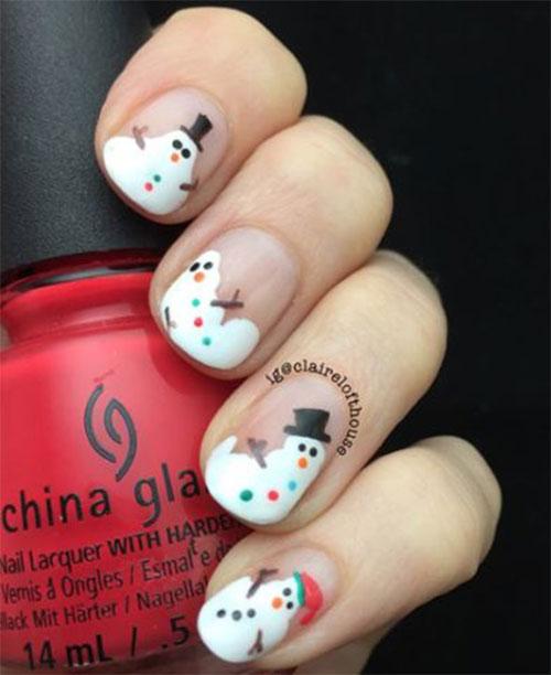 Christmas-Snowman-Nail-Art-Ideas-2020-Holiday-Nails-2