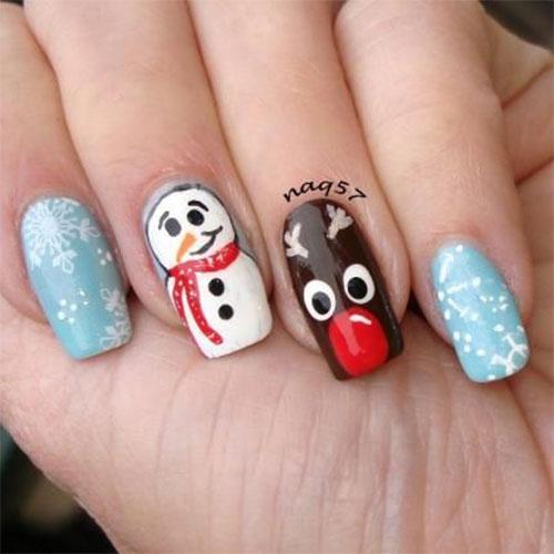 Christmas-Snowman-Nail-Art-Ideas-2020-Holiday-Nails-3