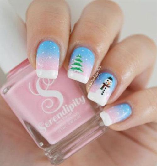 Christmas-Snowman-Nail-Art-Ideas-2020-Holiday-Nails-4