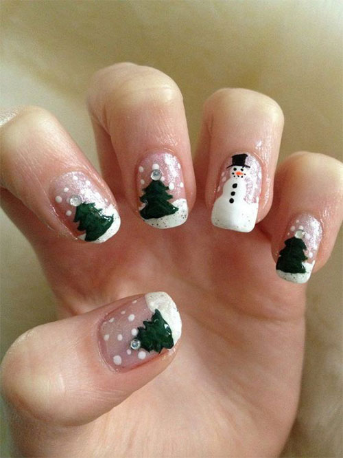 Christmas-Snowman-Nail-Art-Ideas-2020-Holiday-Nails-5
