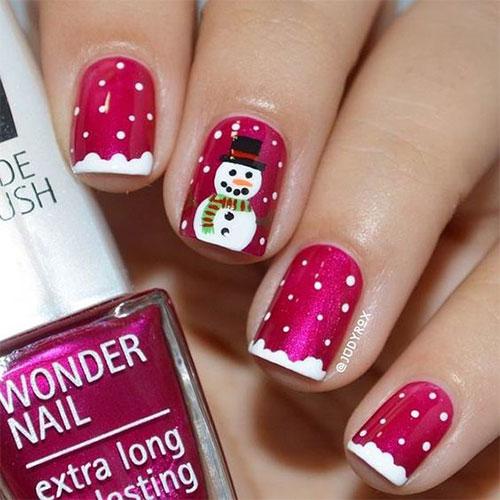 Christmas-Snowman-Nail-Art-Ideas-2020-Holiday-Nails-7