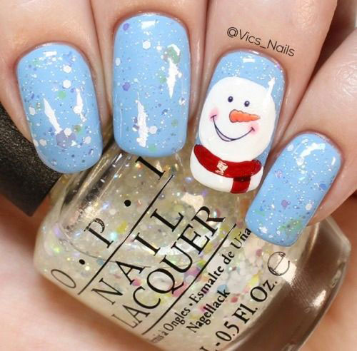 Christmas-Snowman-Nail-Art-Ideas-2020-Holiday-Nails-8