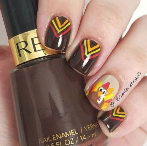 Easy-Simple-Thanksgiving-Nail-Art-2020-5