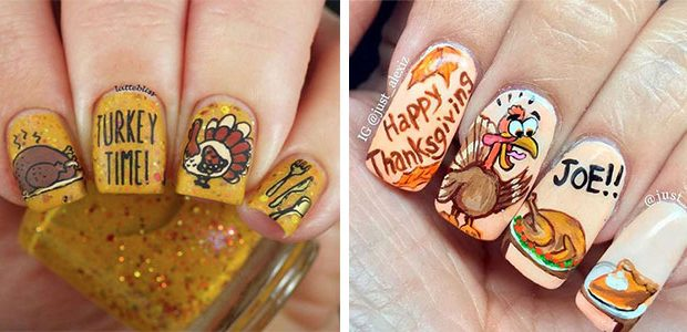 Happy Thanksgiving Nails Art Designs 2020