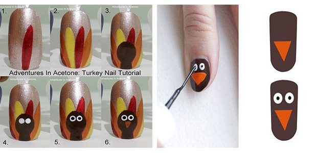 Step By Step Thanksgiving Nail Art Tutorials 2020