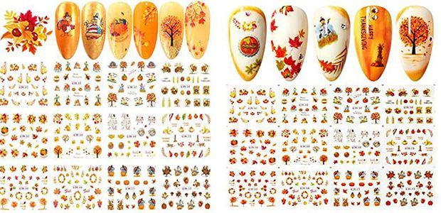 Thanksgiving Nail Decals & Stickers 2020