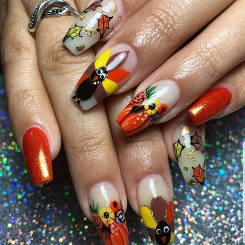 Turkey-Nail-Art-Designs-2020-Thanksgiving-Nails-12