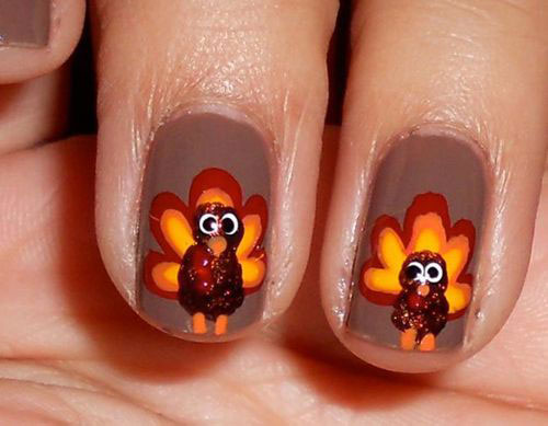 Turkey-Nail-Art-Designs-2020-Thanksgiving-Nails-15