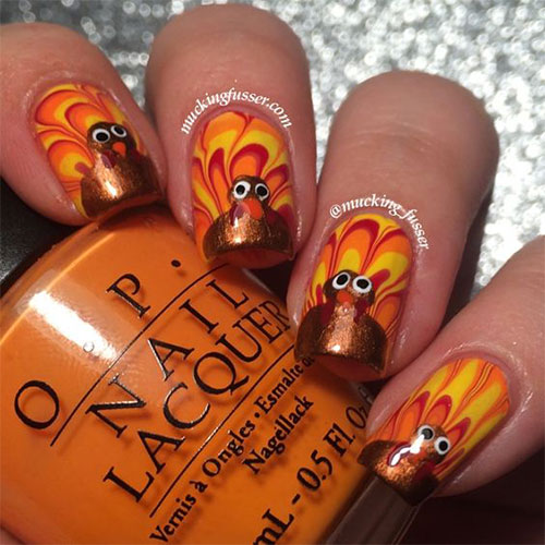 Turkey-Nail-Art-Designs-2020-Thanksgiving-Nails-2