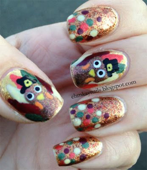 Turkey-Nail-Art-Designs-2020-Thanksgiving-Nails-4