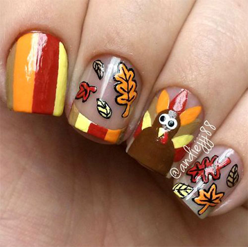 Turkey-Nail-Art-Designs-2020-Thanksgiving-Nails-7