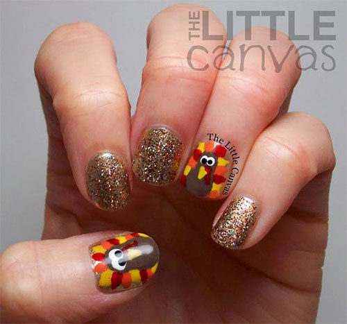 Turkey-Nail-Art-Designs-2020-Thanksgiving-Nails-9