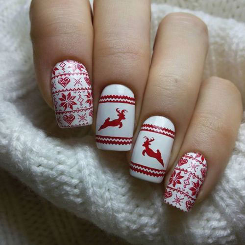 Ugly-Christmas-Sweater-Nail-Art-Designs-2020-December-Nails-10