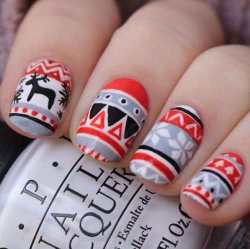 Ugly-Christmas-Sweater-Nail-Art-Designs-2020-December-Nails-3