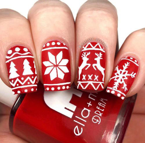 Ugly-Christmas-Sweater-Nail-Art-Designs-2020-December-Nails-5