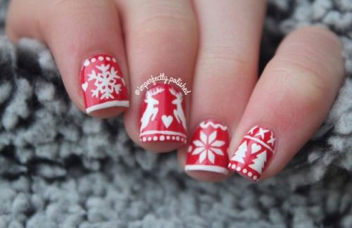 Ugly-Christmas-Sweater-Nail-Art-Designs-2020-December-Nails-9