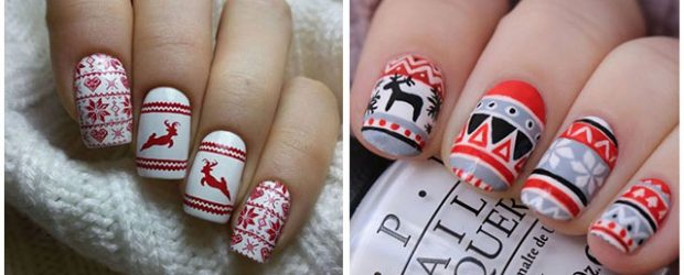 Ugly-Christmas-Sweater-Nail-Art-Designs-2020-December-Nails-F