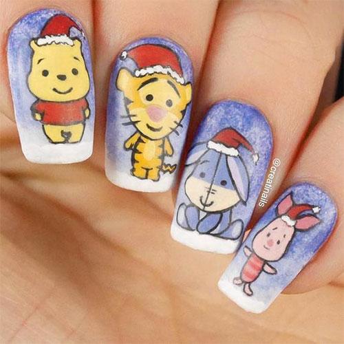 Christmas-Disney-Nails-Art-Designs-2020-Holidays-Nails-12