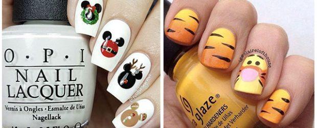 Christmas-Disney-Nails-Art-Designs-2020-Holidays-Nails-F