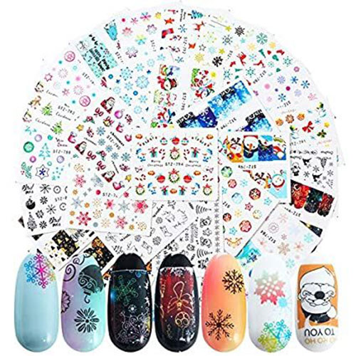 Christmas-Nail-Art-Stickers-Decals-2020-4