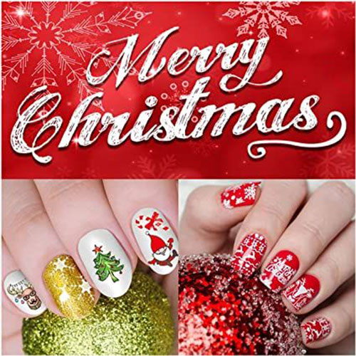 Christmas-Nail-Art-Stickers-Decals-2020-8