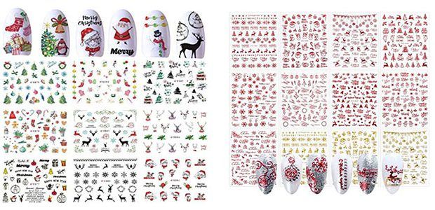 Christmas Nail Art Stickers & Decals 2020