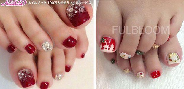 Christmas Toe Nail Art Designs 2020   Xmas Nails