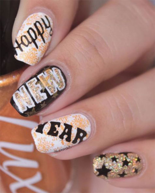 Best-Happy-New-Year-Eve-Nail-Art-Designs-2021-8