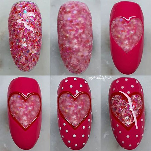 Step-By-Step- Valentine's-Day-Nail-Art-Tutorials-2021-2