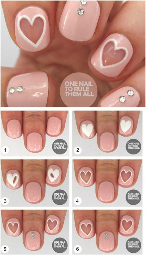 Step-By-Step- Valentine's-Day-Nail-Art-Tutorials-2021-9