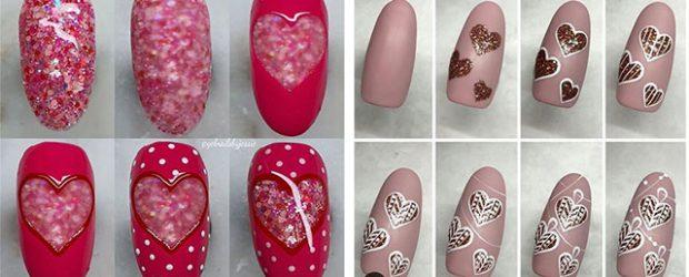 Step-By-Step- Valentine's-Day-Nail-Art-Tutorials-2021-F