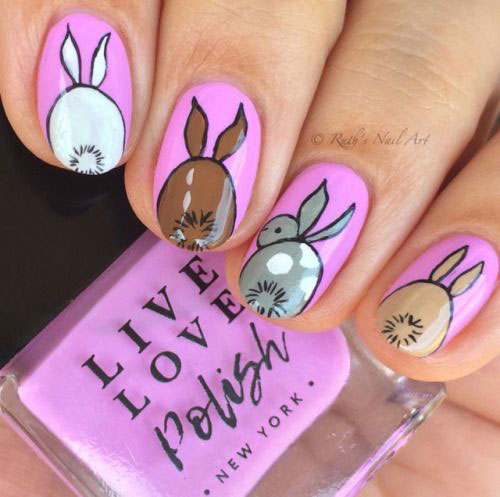 Cute-Easy-Easter-Bunny-Nails-Art-Designs-2021-11